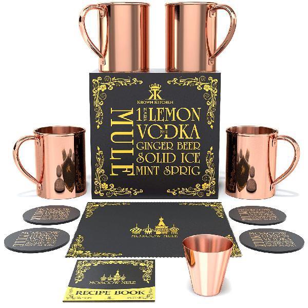 Moscow Mule Copper Mug Set