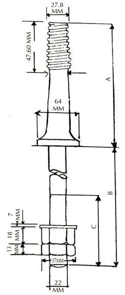 33 KV G.I. Pin