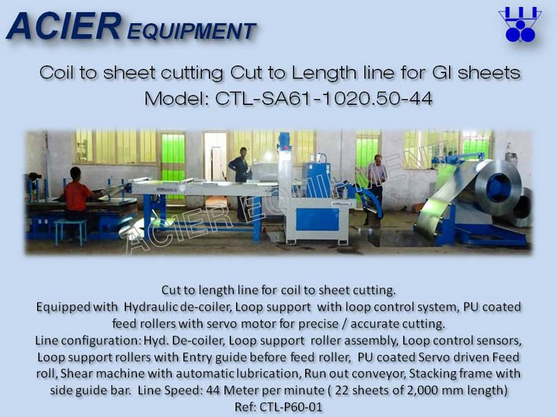 Automatic Cut to Length Line For Galvanized Sheet