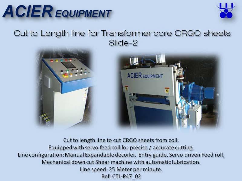 Cut To Length Line Machine For Transformer Core