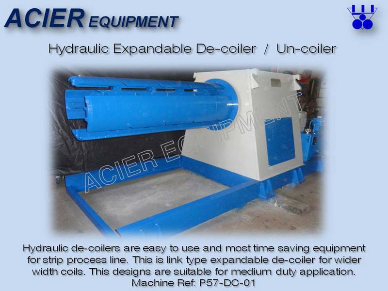 Hydraulic Expandable Link Type Decoiler