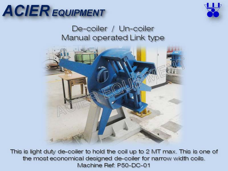 Manual Link Type Decoiler