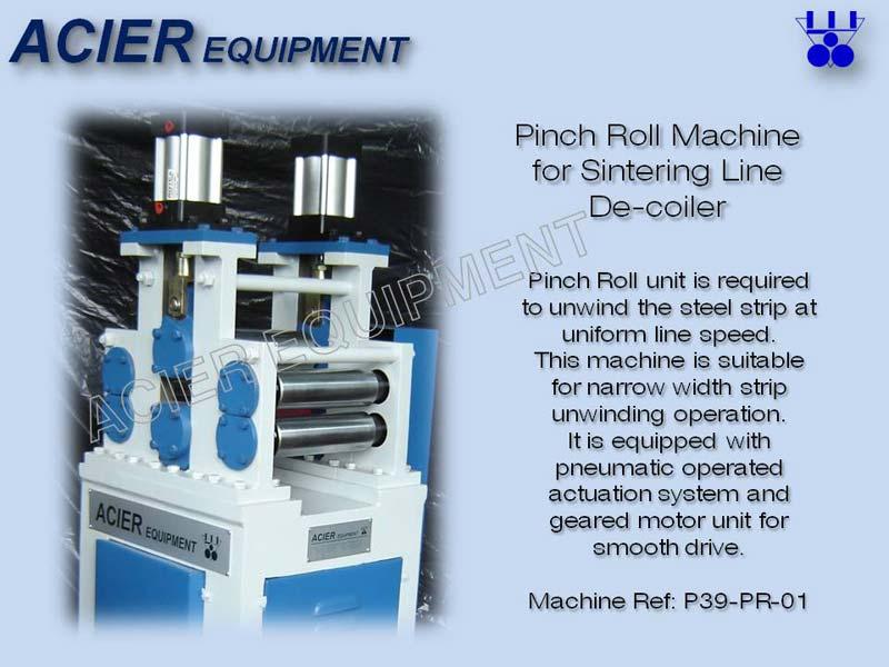 Pinch Roll Machine For Sinter Line Decoding