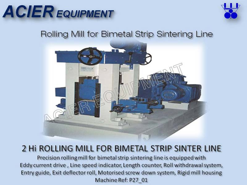 Precision Rolling Mill For Bimetal Strip Sinter Line
