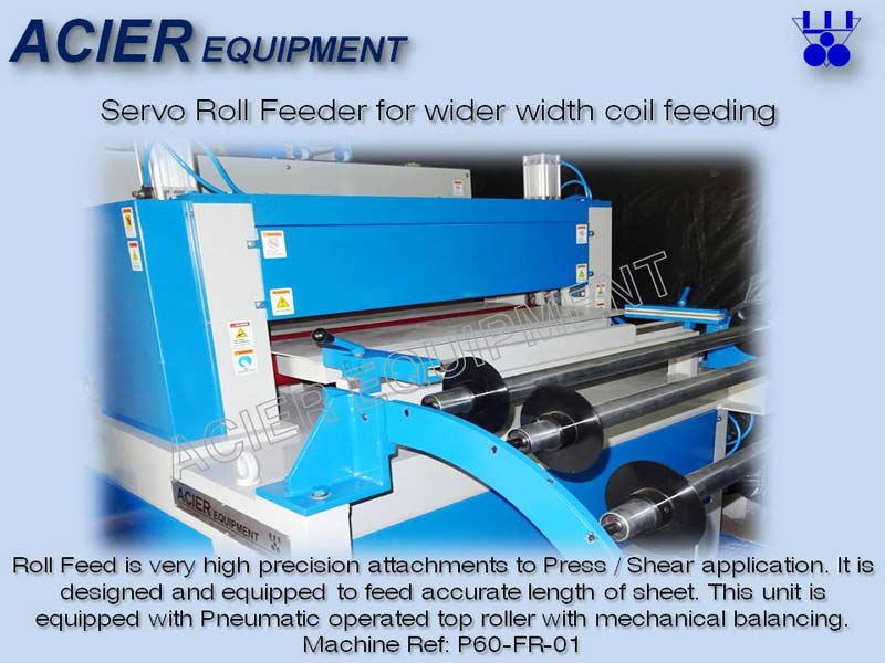 Servo Roll Feeder for Wider Width Coil Feeding