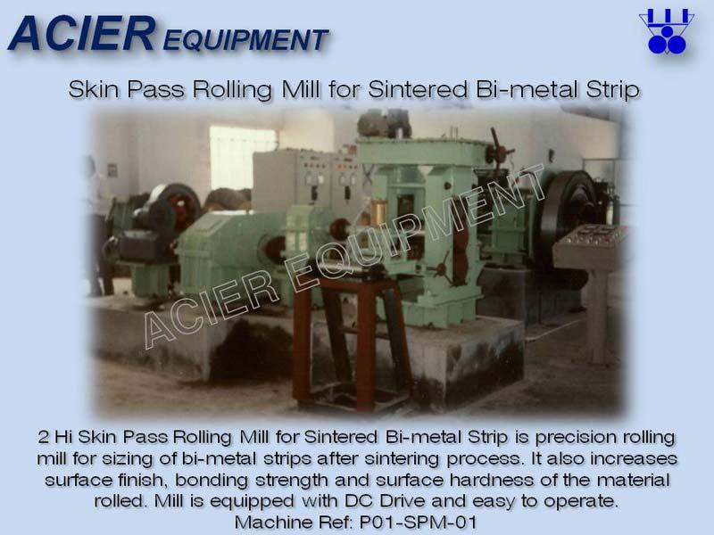 Skin Pass Rolling Mill For Sintered Bimetal Strip