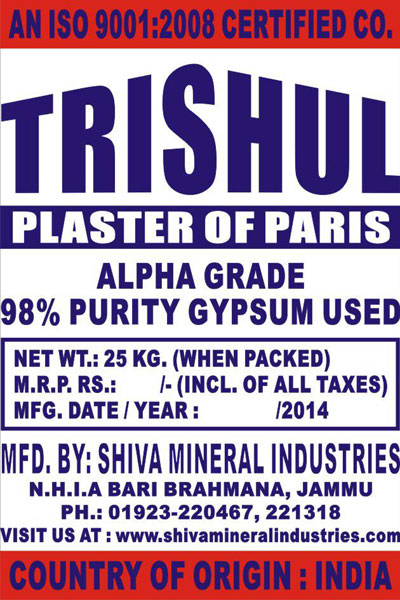 Plaster of Paris (Alpha Grade)