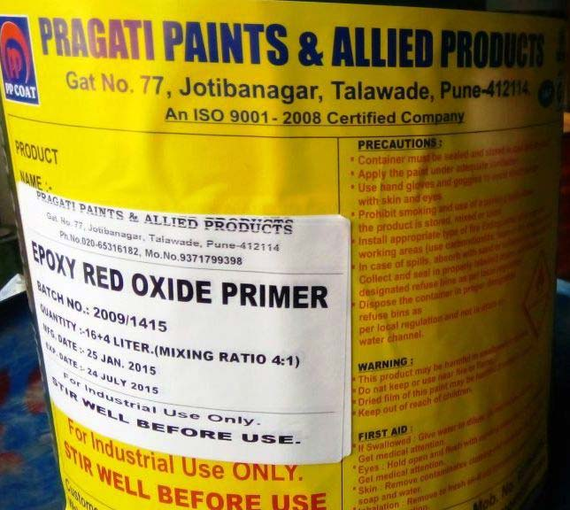 Epoxy Red Oxide Primer Manufacturer Supplier In Pune India