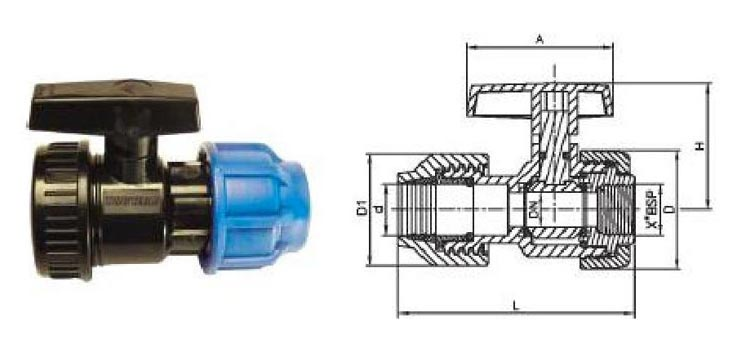Compression Female Ball Valve