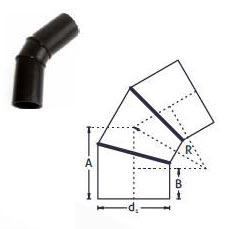 PE Buttweld Fabricated Segment Bend (30,45,60 Degree)