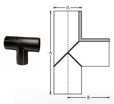 PE Buttweld Pipe Fabricated Segment Equal Tee