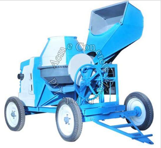 10/7 CFT Concrete Mixer With Hydraulic Hopper