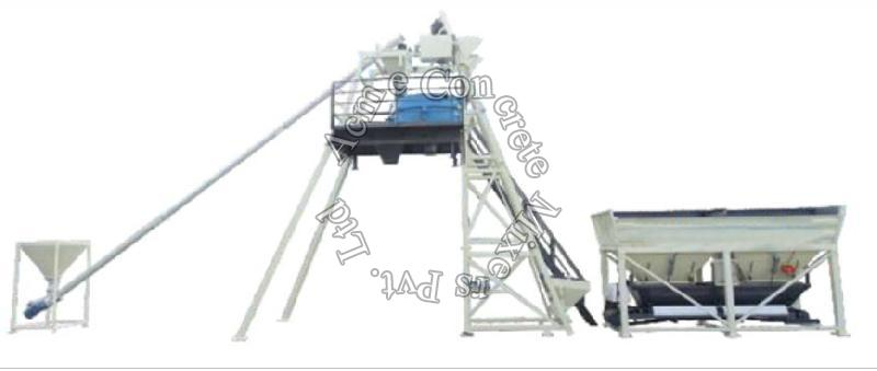 Cross Bin Concrete Batching Plant
