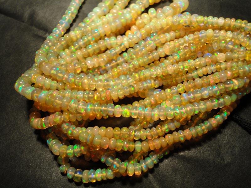 Ethiopian Welo Fire Opal Beads Ethiopian Welo Fire Opal