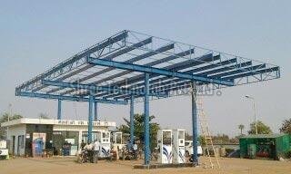 Petrol Pump Canopy Installation
