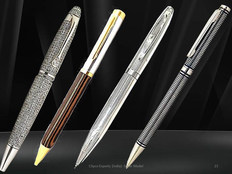 Silver Ball Pens
