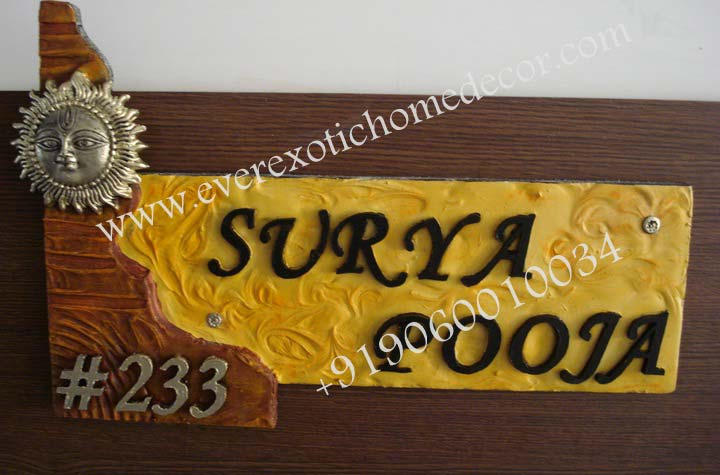 Designer Name Plates Customized Name Plates Name Boards Suppliers Bangalore