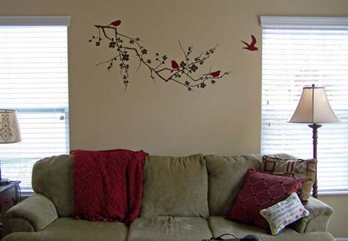 Simple Bedroom Murals Gallery Painted Wall On Ideas