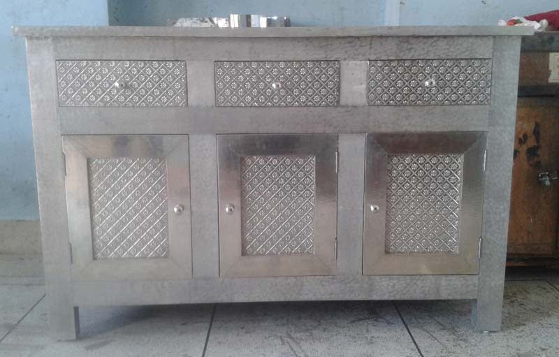 White Metal Embossed Chest Drawer Exporter Wholesale Supplier In Jodhpur