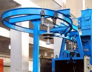 Monorail Hanger Shot Blasting Machine