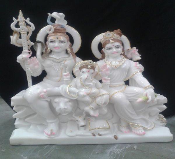 Shankar Parvati Statues Marble Shiv Parvati Statue