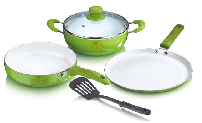 Colored Ceramic Coated Cooking Set