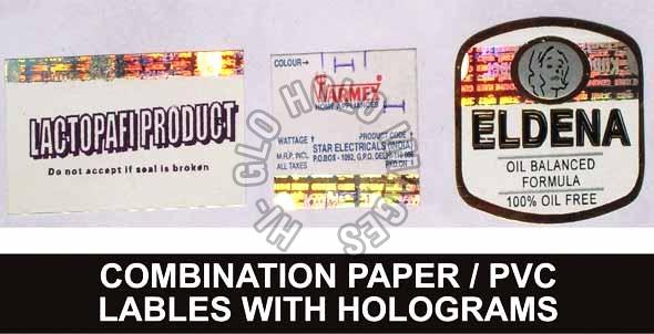 PVC Labels Holograms / Combination  Paper