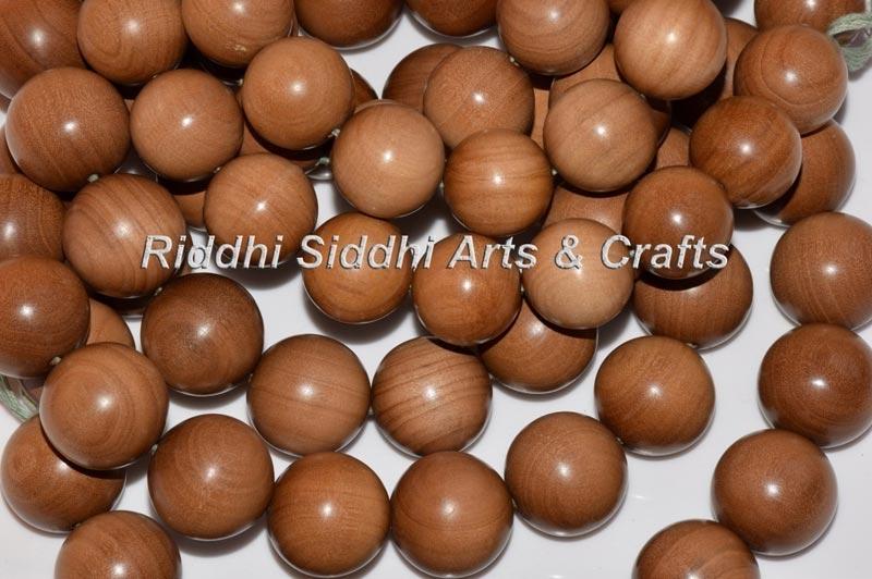 Carved Sandalwood Mala Beads