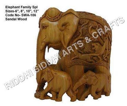 Sandalwood Elephant Statue