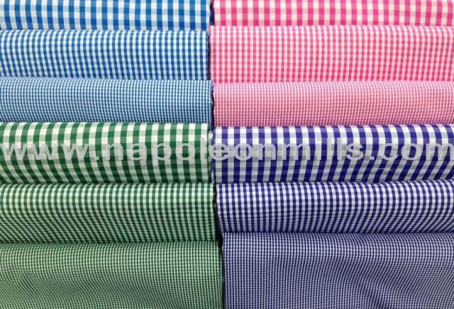 Gingham Shirting Fabric