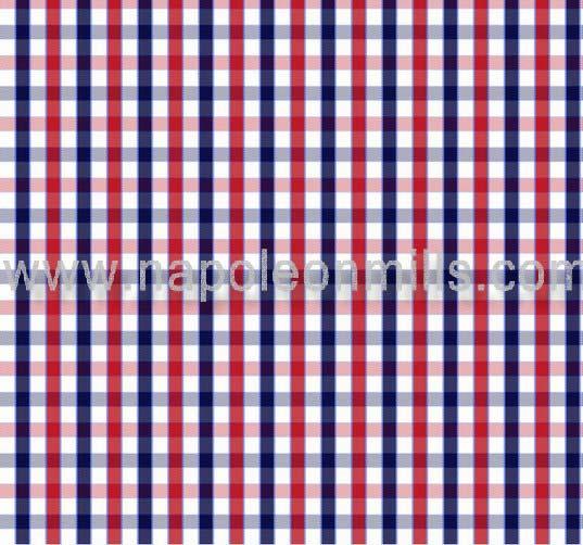 Polyester Cotton Check Shirting Fabric