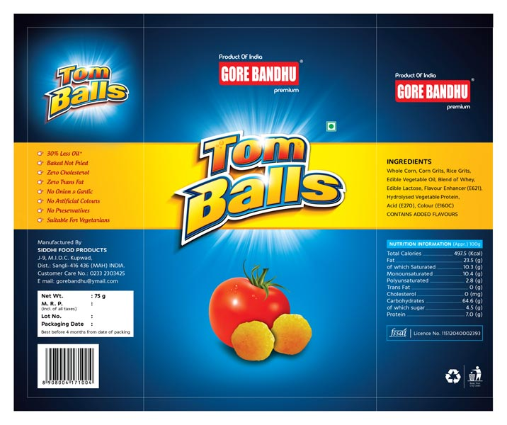 Tom Balls Snacks