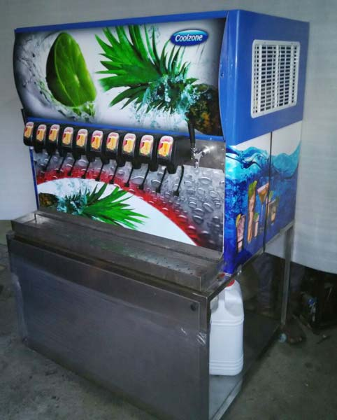 10 Valve Soda Fountain Machine