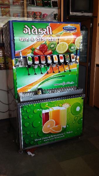 8 Valve Soda Fountain Machine
