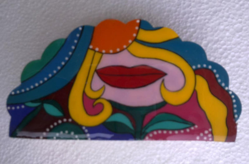 Hand Painted Napkin Holder Handpainted Wooden Napkin