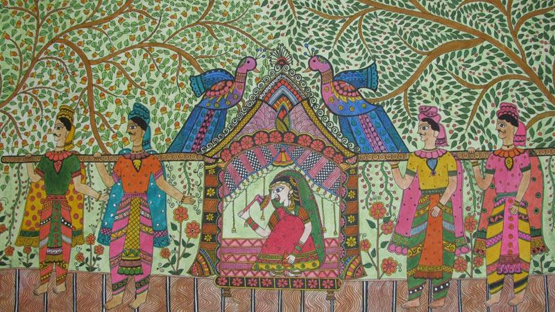 Madhubani Painting Traditional Madhubani Paintings Mithila
