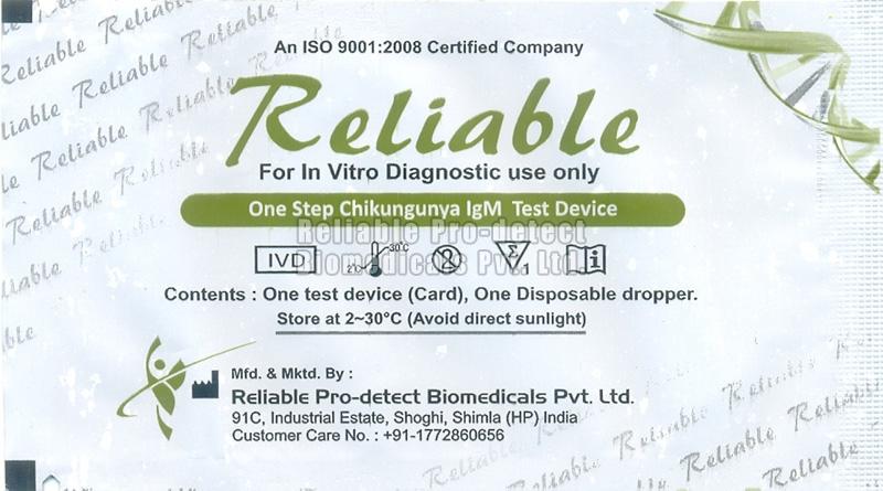 One Step Chikungunya IgM Test Device