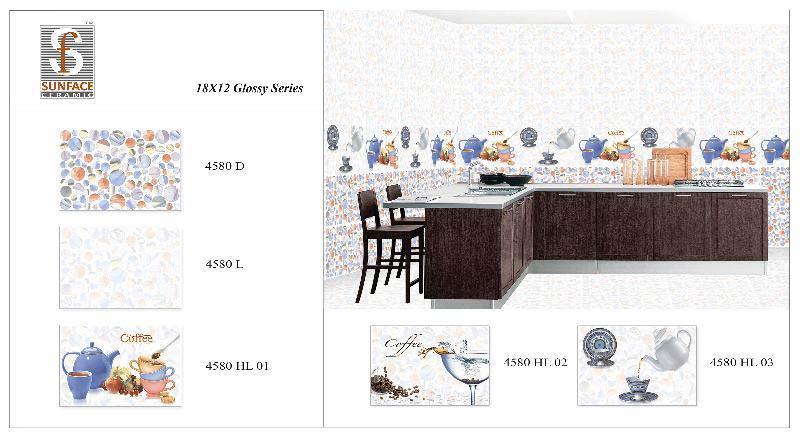 300 X 450 Glossy Kitchen Series Tiles