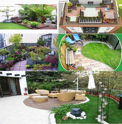 Design of open terrace images for Terrace garden design