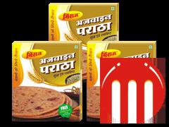 3 Combo Pack Ajwain Paratha