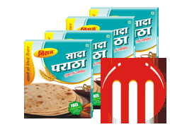 4 Combo Pack Plain Paratha