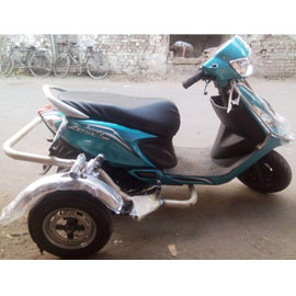 TVS Zest 110 Side Wheel Attachment