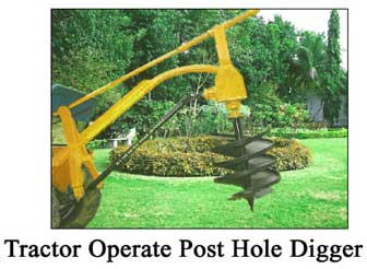 Tractor Operated Post Hole Digger