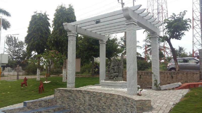 Stone Pergola 04