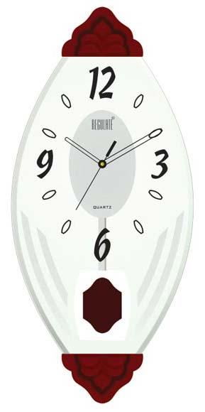 glass pendulum wall clock rq 503