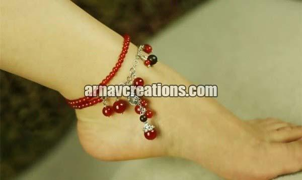 Agate Anklets