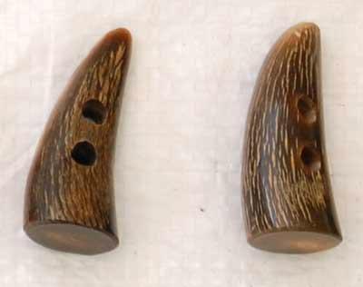 Buffalo Horn Button 09