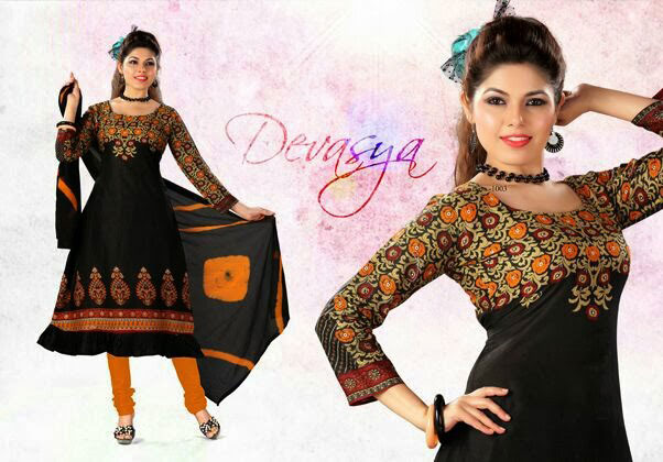 Cotton Printed Anarkali Suits