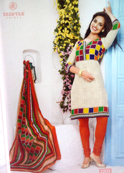 Cotton Printed Churidar Suits