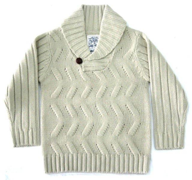 Kids Shawl Collar Sweater